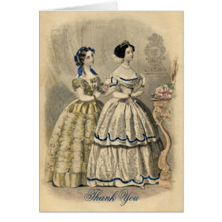 Vintage Bridesmaid's Thank You Note Card