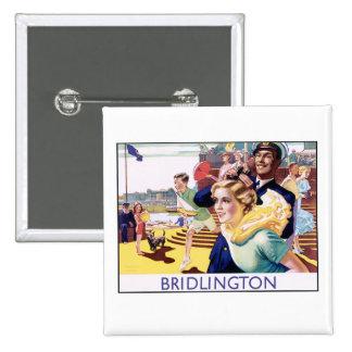 Vintage Bridlington 15 Cm Square Badge