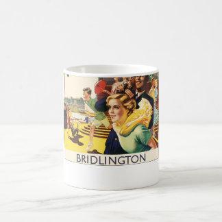 Vintage Bridlington England Resort Poster Coffee Mug