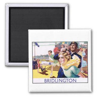 Vintage Bridlington Square Magnet