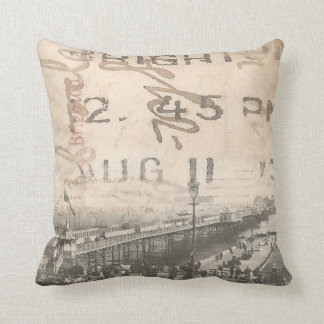 Vintage Brighton Pier Photograph Cushion