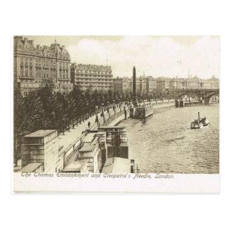 Vintage Britain, London, Embankment 1900 Postcard