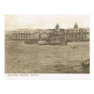 Vintage Britain, London, Greenwich Hospital Postcard