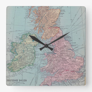 Vintage Britain Map Clock
