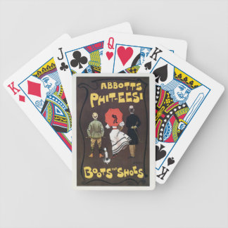Vintage British boots and shoes advertising Playing Cards