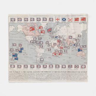Vintage British Empire World Map (1910) Fleece Blanket