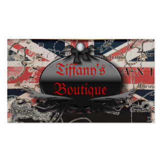 Vintage British Flag Fashion Boutique Business Pack Of Standard Business Cards