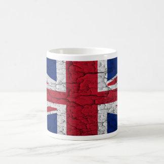 Vintage British Flag Basic White Mug