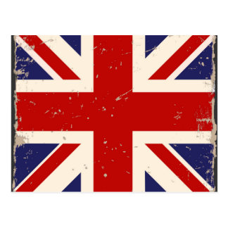Vintage British Flag Postcard