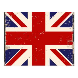 Vintage British Flag Postcard Postcard