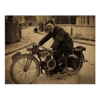 Vintage British Motorcycle  Early 1900s Postcard