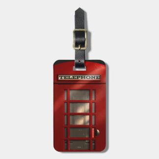 Vintage British Red Phonebox Luggage Tag