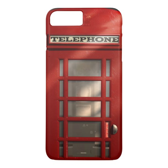Vintage British Red Telephone Box iPhone 8 Plus/7 Plus Case