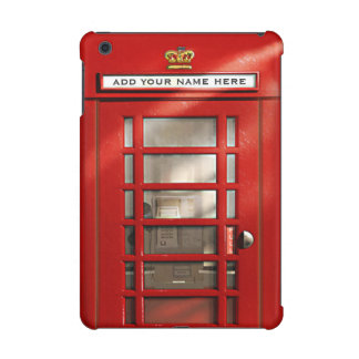 Vintage British Red Telephone Box Personalized iPad Mini Cover