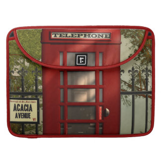 Vintage British Red Telephone Box Sleeve For MacBooks