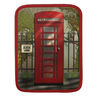 Vintage British Red Telephone Box Sleeves For iPads