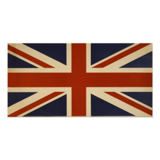 Vintage British Union Flag Rectangular Poster