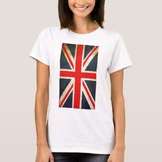 Vintage British Union Jack Flag Women Basic TShirt
