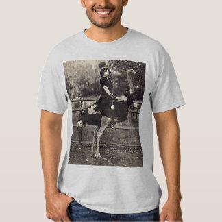 Vintage Broadway Actress Riding an Ostrich T-Shirt