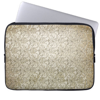 Vintage Brocade Damask Print Laptop Sleeve