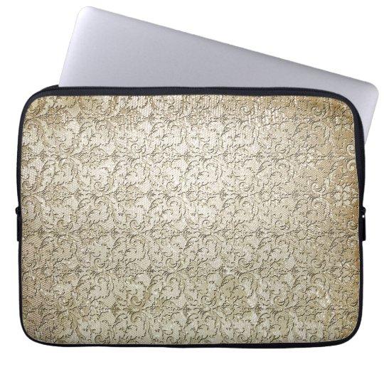Vintage Brocade Damask Print Laptop Sleeve