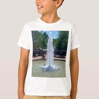 Vintage Bronze Horse Behind Fountain T-Shirt