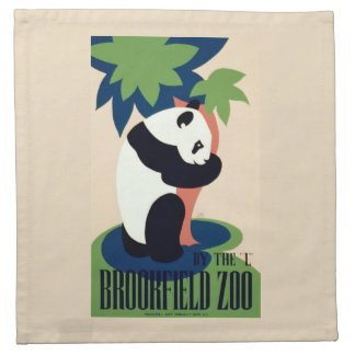 "Vintage ""Brookfield Zoo"" cloth napkins"