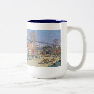 Vintage Brooklyn Bridge 15 Oz Mug