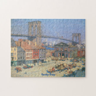 Vintage Brooklyn Bridge Jigsaw Puzzle Gift Box