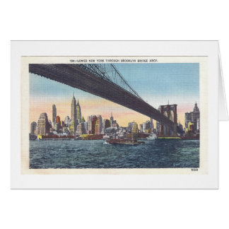 Vintage Brooklyn Bridge Postcard