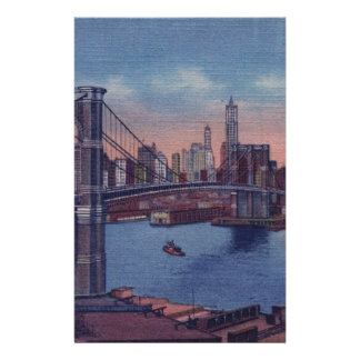 Vintage Brooklyn Bridge Stationery