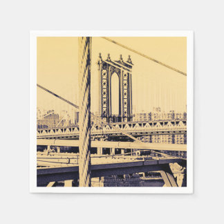 Vintage Brooklyn for your party Disposable Serviettes