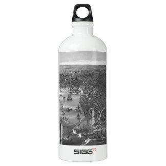 Vintage Brooklyn Map Water Bottle in Black & White