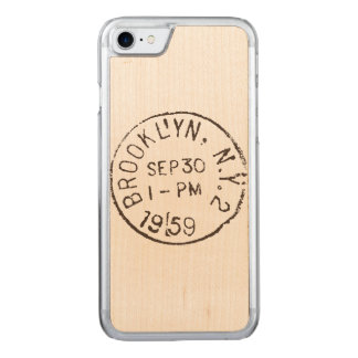 vintage brooklyn nyc new york city trendy postage carved iPhone 7 case