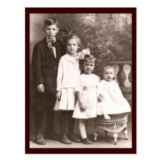 Vintage Brother & Sisters Postcard