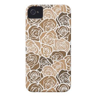 Vintage brown & beige roses BlackBerry Bold Case