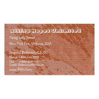 Vintage Brown Bricks  : Nature Wonders Pack Of Standard Business Cards