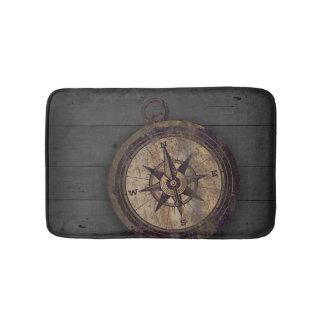 Vintage Brown Compass Bath Mat
