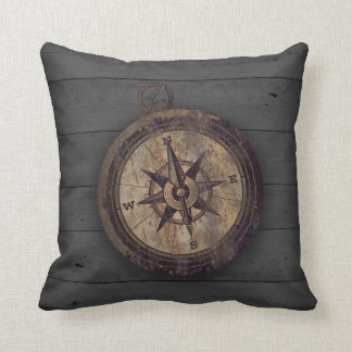 Vintage Brown Compass Cushion