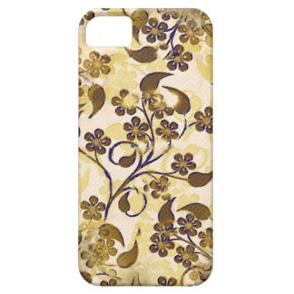 Vintage Brown Gold Floral Case-Mate iPhone 5 Barely There iPhone 5 Case