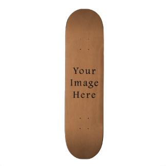 Vintage Brown Leather Parchment Paper Background Skateboard Deck