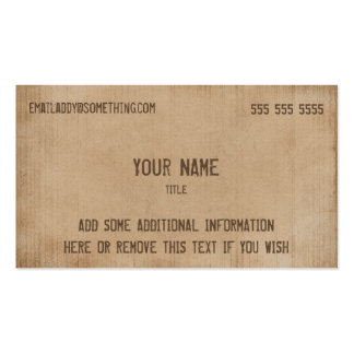 Vintage Brown Parchment Pack Of Standard Business Cards