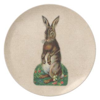 Vintage Brown Rabbit Print Plate