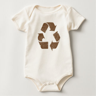 Vintage Brown Recycle Sign Baby Bodysuit