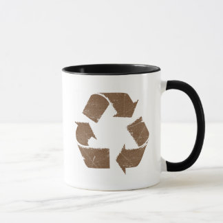 Vintage Brown Recycle Sign Mug