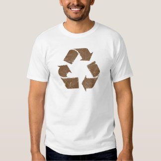 Vintage Brown Recycle Sign Shirts