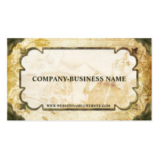 Vintage Brown Tan Flourish Paper Business Cards