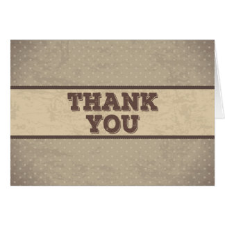 vintage brown thank you card