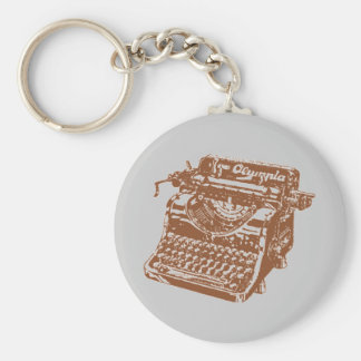 Vintage Brown Typewriter Key Ring