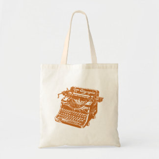 Vintage Brown Typewriter Tote Bag